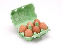 Doos van eieren Stock Afbeeldingen