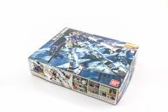 Doos van Gundam rx-78-2 HOOFDrangmodel Stock Afbeelding
