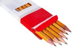 Doos van potloden royalty-vrije stock foto