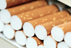 Doos van sigaretten Stock Afbeelding