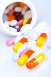 Doos van vitaminen Stock Afbeeldingen