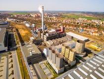 Doosan斯柯达力量钢厂 免版税库存照片