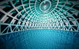 Dopłynięcie błękitny nowożytny architektoniczny basen ilustracja wektor