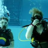 Dopłynięcie nurkowy basen Obrazy Royalty Free