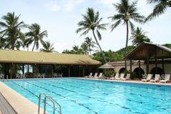 Dopłynięcie tropikalny basen Zdjęcie Royalty Free