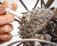 Dopage mécanique dans le recyclage image libre de droits