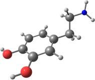 Dopaminemolekyl som isoleras på vit Arkivfoto
