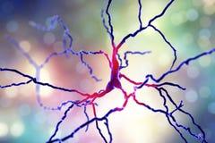 Dopaminergisches Neuron Degeneration von Zellen dieses Gehirns ist für Entwicklung von Parkinson-` s Krankheit verantwortlich vektor abbildung