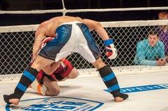 Dopasowania dwa MMA wojownicy zdjęcie royalty free