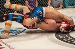 Dopasowania dwa MMA wojownicy Zdjęcia Stock