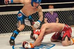 Dopasowania dwa MMA wojownicy Fotografia Royalty Free