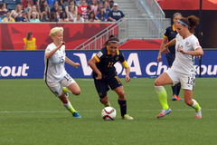Dopasowanie między usa vs Australia drużyna narodowa. FIFA Women's puchar świata Obrazy Stock