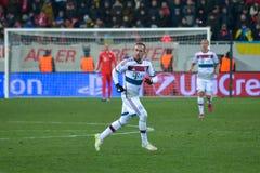 Dopasowanie między FC Shakhtar vs FC Bayern mistrz ligii Zdjęcie Royalty Free