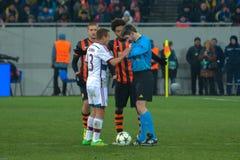 Dopasowanie między FC Shakhtar vs FC Bayern mistrz ligii Obraz Stock