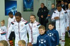 Dopasowanie między FC Shakhtar vs FC Bayern mistrz ligii Obrazy Royalty Free