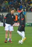 Dopasowanie między FC Shakhtar vs FC Bayern mistrz ligii Zdjęcia Royalty Free