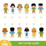 Dopasowywanie gra Znajduje przód i popiera charaktery ilustracji