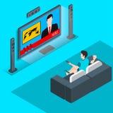Dopatrywania tv isometrik 2 royalty ilustracja
