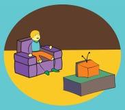 Dopatrywanie TV ilustracja wektor