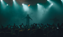 Dope D.O.D concert in Moscow. Dope D.O.D performing at Ray Just Arena nightclub in Moscow, Russia on 20 February 2015 royalty free stock photos