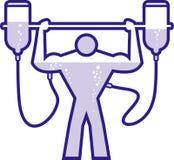 Doped body builder. Illustration of a doped body builder stock illustration