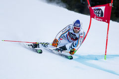 DOPFER Fritz in Audi Fis Alpine Skiing World-Schale Men's riesiges S lizenzfreies stockfoto