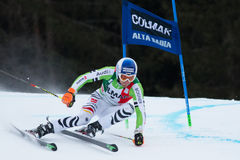 DOPFER Fritz (GER). Alta Badia, ITALY 22 DOPFER Fritz (GER) competing in the Audi FIS Alpine Skiing World Cup MEN'S GIANT SLALOM Royalty Free Stock Photography