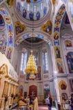 Dophelgon George Cathedral Vydubytsky Monastery Kiev Ukraina royaltyfria foton