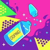 Doping Ampoule Illustration royalty free illustration