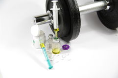 Doping and competitive sports Stock Photos