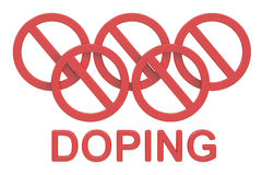 Doping concept, 3D rendering Stock Images