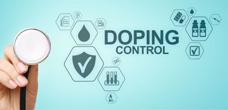 Doping Control Sports Analysis Test Laboratory. Medical concept on virtual screen. Doping Control Sports Analysis Test Laboratory. Medical concept on virtual royalty free stock photos