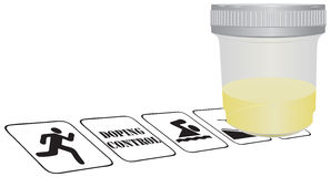 Doping control in sports Stock Image