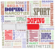 Doping in the form of a crossword Royalty Free Stock Image