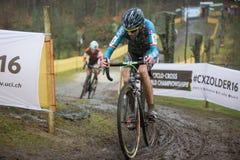 Doping mecánico cogido Driessche de Femke van den Foto de archivo
