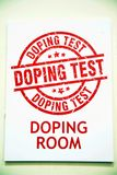 Doping room. The doping room in the dirceu stadium of eboli in italy Royalty Free Stock Photography