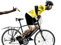 Doping sport concept man silhouette Stock Images
