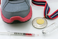Doping in sport concept Stock Photography
