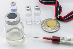 Doping in sport concept Stock Images