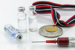 Doping in sport concept stock image