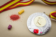 Doping in sport concept Royalty Free Stock Photos