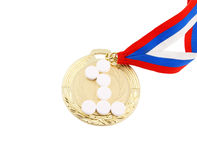 Doping in sport, gold medal and tablets Stock Photography