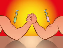 Doping Sports Syringe Anabolic Drugs Stock Photos