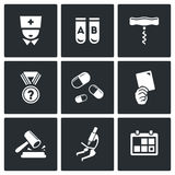 Doping test icon set Stock Photo