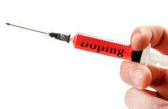 Doping word Royalty Free Stock Image