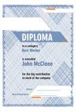 Doploma diagonale Immagini Stock Libere da Diritti