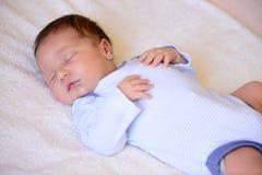 Dopo il neonato di parto Immagini Stock