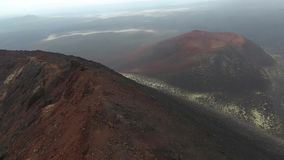 Dopo l'eruzione del vulcano Plosky Tolbachik in Kamchatka stock footage
