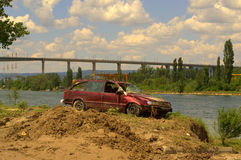 Dopo l'inondazione Varna la Bulgaria del 19 giugno Immagini Stock