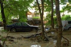 Dopo l'inondazione Varna la Bulgaria nel 19 giugno Fotografie Stock Libere da Diritti